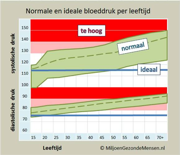 Bloeddruk per leeftijd Joost van der Laan